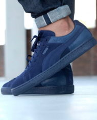 Hot Sale Puma Suede Classic Casual Emboss Peacoat Men V10z1827 — Men Puma Shoes 678_LRG