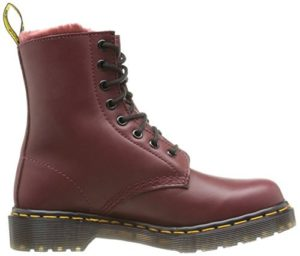 Dr. Martens 1460 Cherry Red Fur Lined Serena Wyoming (WINTER)