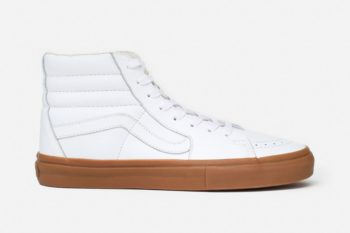 Vans SK-8 Leather Reissue Hi Off White/Gum Sole