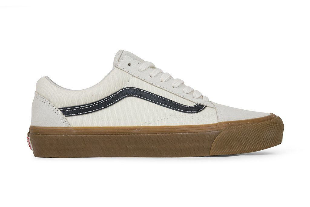 Vans Vault OG Old Skool LX Suede/Canvas — Marshmallow/Light Gum