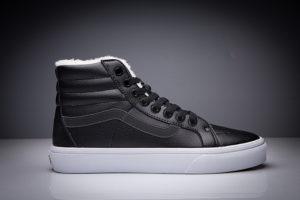 VANS SK8-HI MTE Leather Black-Black/White (WINTER)
