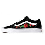 Vans Old Skool Black/White Custom Vans`n Roses